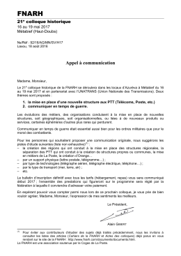 bulletin de pré-inscription