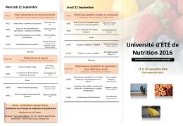 Présentation PowerPoint - Activités de l`Université d`été CRNH