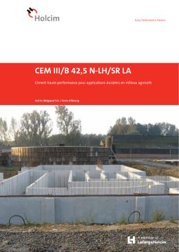 CEM III/B 42,5 N-LH/SR LA