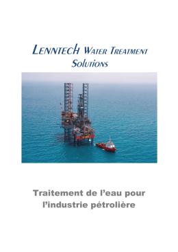 Traitement de l`eau pour l`industrie pétrolière