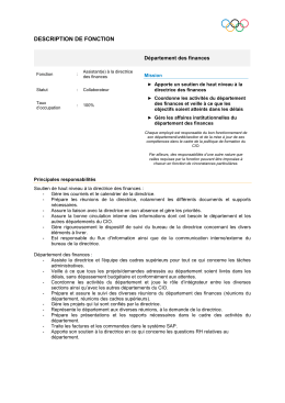 Description détaillée du poste