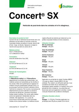 Concert® SX - Stähler Suisse SA