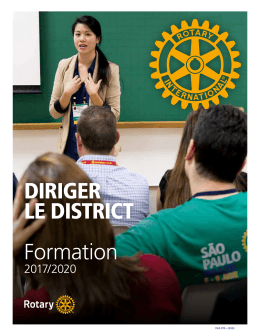 DIRIGER LE DISTRICT Formation