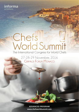 27-28-29 November, 2016 - Chefs World Summit