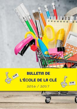 BULLETIN DE L`ÉCOLE DE LA CLÉ
