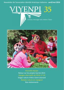 Lire le numéro 35 du Viyenpi (Avril-Mai 2016)