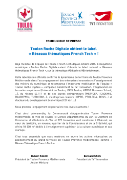 Commmuniqué de presse - Toulon Ruche Digitale[1]