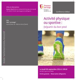 Activité physique ou sportive