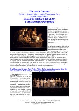 programme théâtrales 2016