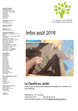 Info Août 2016 - La famille au jardin