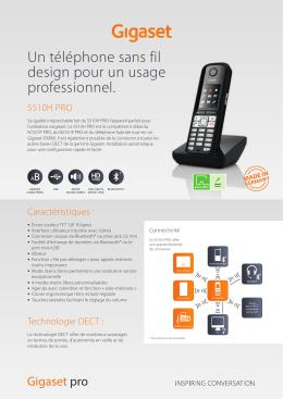 Un téléphone sans fil design pour un usage professionnel.