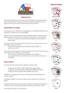 Règles du jeu Ultimate Texas Hold`em
