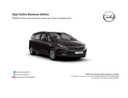 Opel Zafira Business Edition