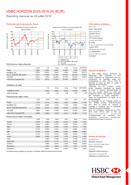 hsbc horizon 2016-2018 (a) (eur) - HSBC Global Asset Management