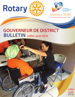 rotary newsletter french 1