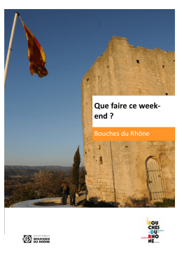 Que faire ce week- end - Office de tourisme – Mallemort de provence