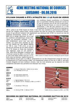 Meeting national de courses du LS - Lausanne