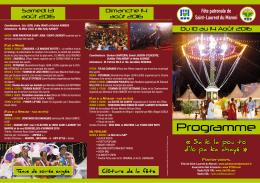 Programme - Comité du Tourisme de Guyane