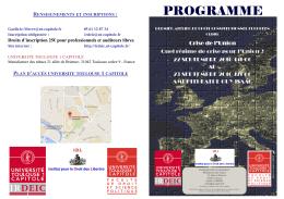 Programme Atelier de droit constitutionnel europeen