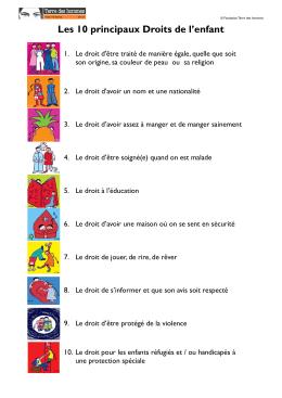 Les 10 principaux Droits de l`enfant