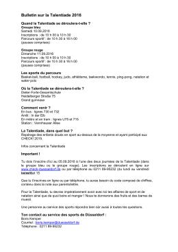 Bulletin sur la Talentiade 2016 - check