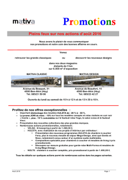Promotions - Meubles Mativa