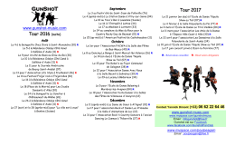 Gunshot Tour Info