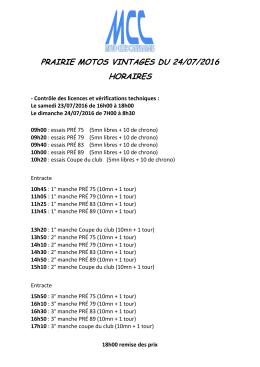 prairie motos vintages du 24/07/2016 horaires
