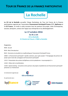 La Rochelle - Financement Participatif France