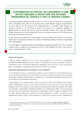 CGP press release French version
