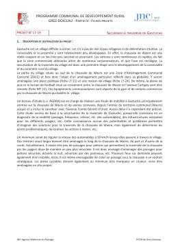 sécurisation de la traversée de Gastuche - Grez