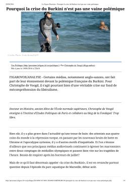 Pourquoi la crise du Burkini n`est pas une vaine polémique - ac