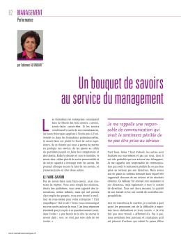 Un bouquet de savoirs au service du management