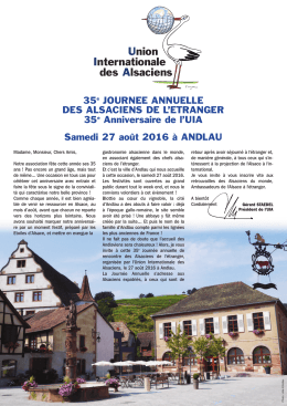 2016 Circ 35e Journée Andlau - Union Internationale des Alsaciens
