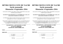 bulletin d`inscription - Rétro Moto Cote de Nacre