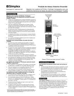 Produits de réseau d`alarme d`incendie