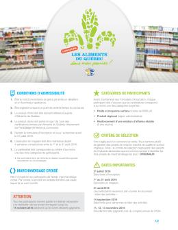 conditions d`admissibilité marchandisage croisé catégories de