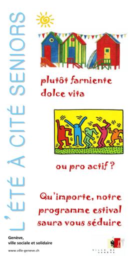 Programme : L`été à Cité Seniors