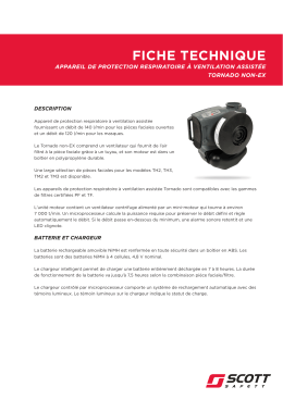 Tornado Non EX Technical Datasheet in French