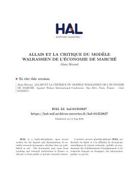 Allais Walras
