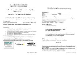 2ème MARCHÉ AUX PUCES Dimanche 4 Septembre 2016 400