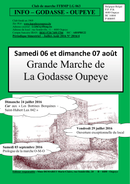 Club de marche - La Godasse Oupeye
