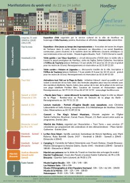 du 22 au 24 juillet - Office de Tourisme de Honfleur