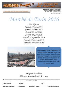 Marché de Turin 2016