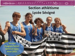 Diapositive 1 - Ligue de Bretagne d`Athlétisme