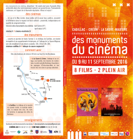 Programme des monuments du cinema2016 web