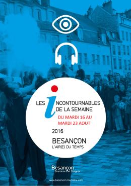 Téléchargez le semainier des manifestations à Besançon