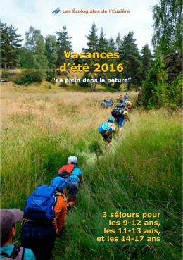 Plaquette des camps 2016