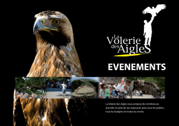 EVENEMENTS - La Volerie des Aigles