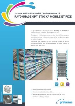 rayonnage optistock® mobile et fixe